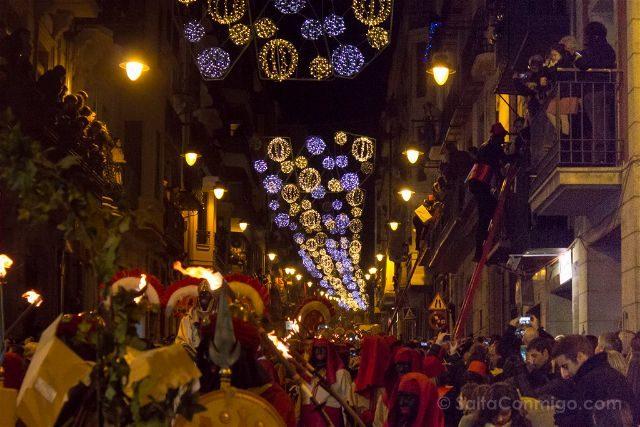 Alicante Alcoy Navidad Cabalgata Pajes Escaleras