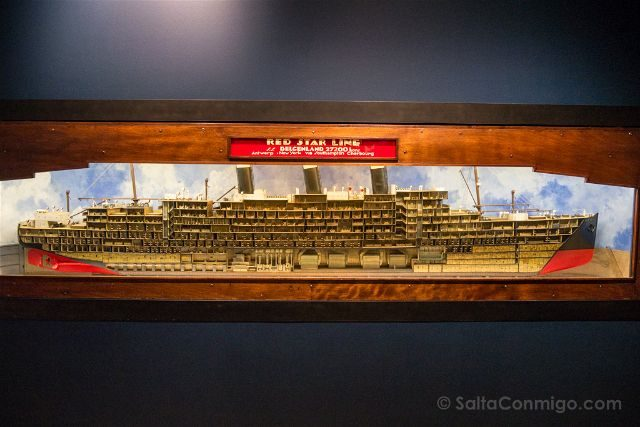 Belgica Flandes Amberes Red Star Line Museo Maqueta Barco