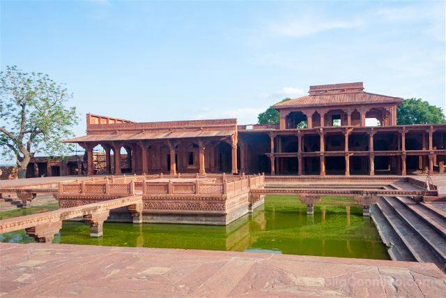India Fatehpur Sikri Anup Talao Khawabgah
