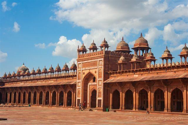 India Fatehpur Sikri Mezquita Jama Masjid Patio