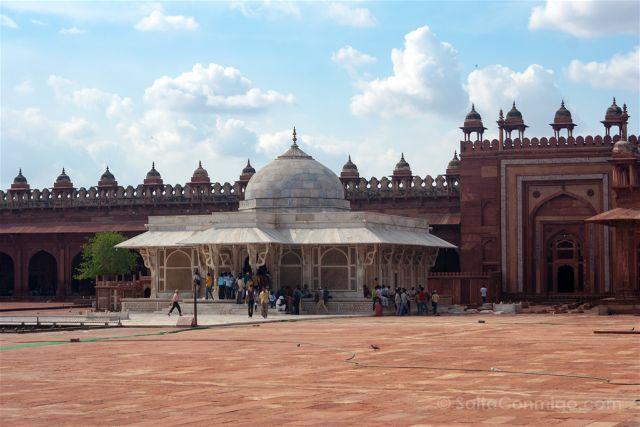 India Fatehpur Sikri Mezquita Jama Masjid Tumba Salim Chishti