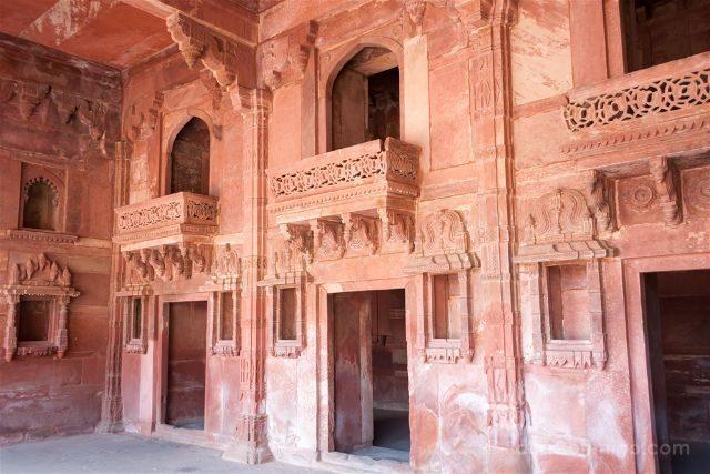 India Fatehpur Sikri Palacio Jodh Bai