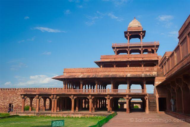 India Fatehpur Sikri Panch Mahal