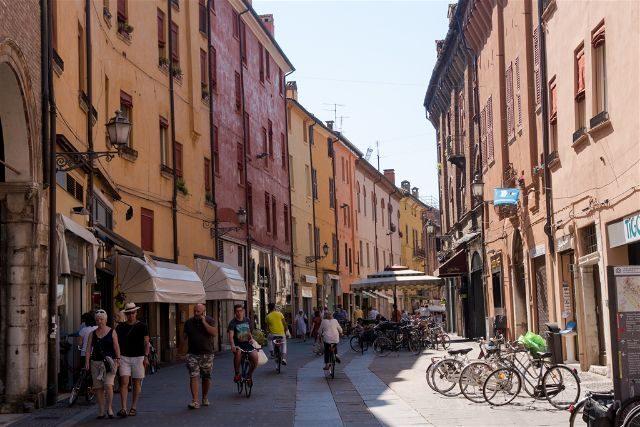 Italia Emilia-Romagna Ferrara Calles
