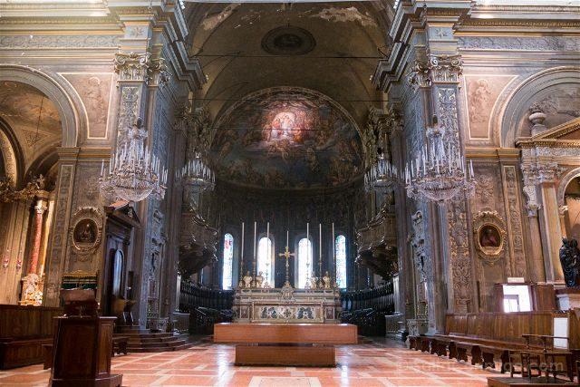 Italia Emilia-Romagna Ferrara Catedral Interior