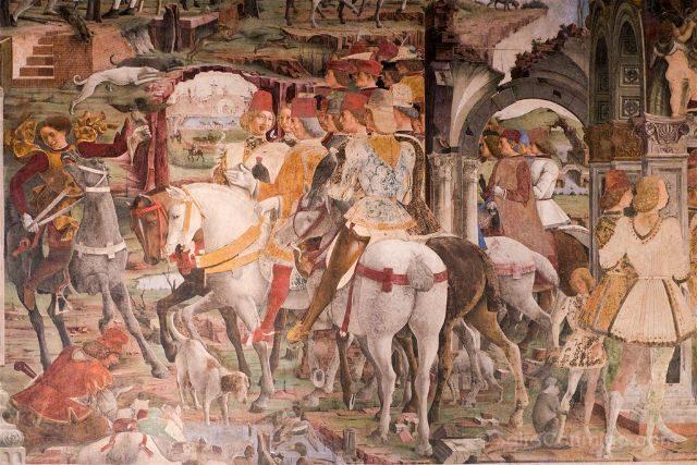 Italia Emilia-Romagna Ferrara Palazzo Schifanoia Frescos
