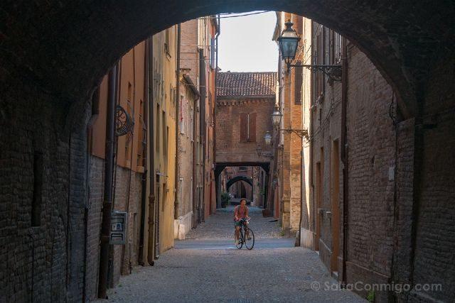 Italia Emilia-Romagna Ferrara Via Volte Bici