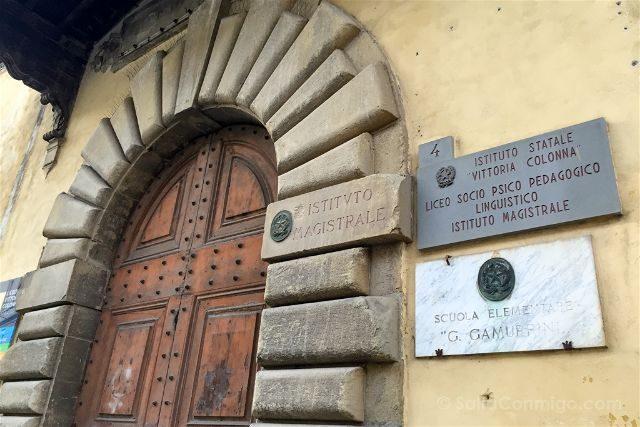 Italia Toscana Arezzo La Vida Es Bella Scuole Gamurrini