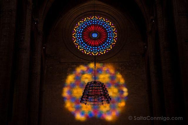 Mallorca Catedral de Palma Espectaculo del Ocho Detalle