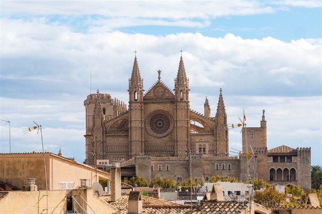 Mallorca Vista Catedral de Palma Fachada Museu des Baluard