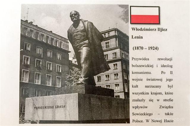 Polonia Cracovia Nowa Huta Estatua Lenin