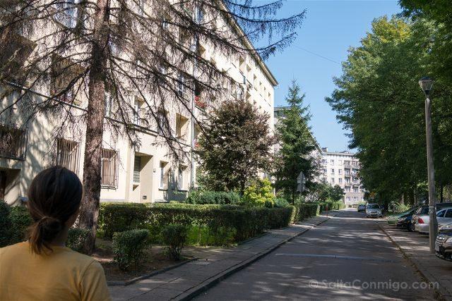 Polonia Cracovia Nowa Huta Manzana Edificios