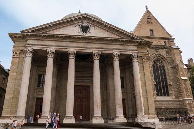 Suiza Ginebra Catedral San Pedro Fachada