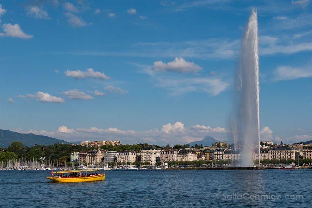 Suiza Ginebra Jet d'eau