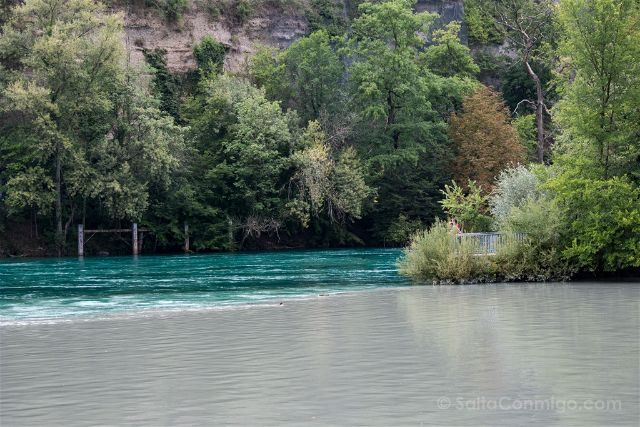 Suiza Ginebra La Jonction Encuentro Aguas