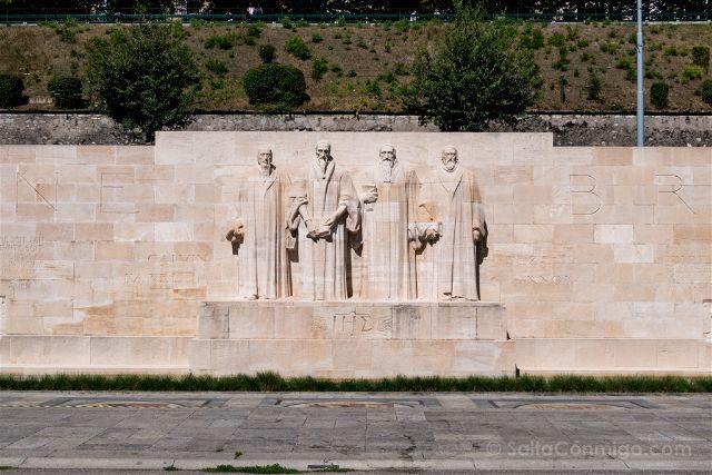 Suiza Ginebra Muro Reformadores