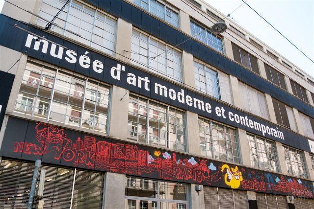 Suiza Ginebra Museo Arte Moderno Contemporaneo Fachada