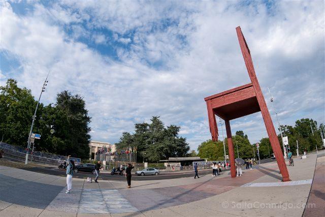 Suiza Ginebra Naciones Unidas Broken Chair