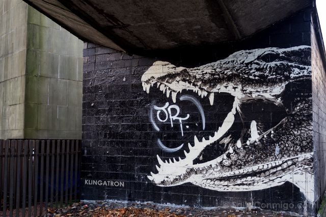 Glasgow City Centre Mural Trail Crocodile Glesca Klingatron