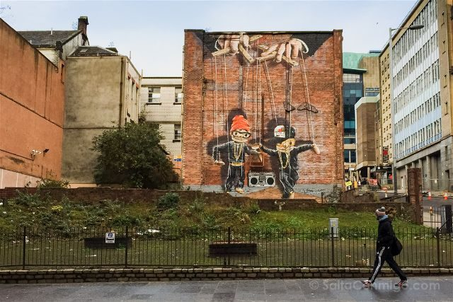 Glasgow City Centre Mural Trail Hip Hop Marionettes Rogue-One