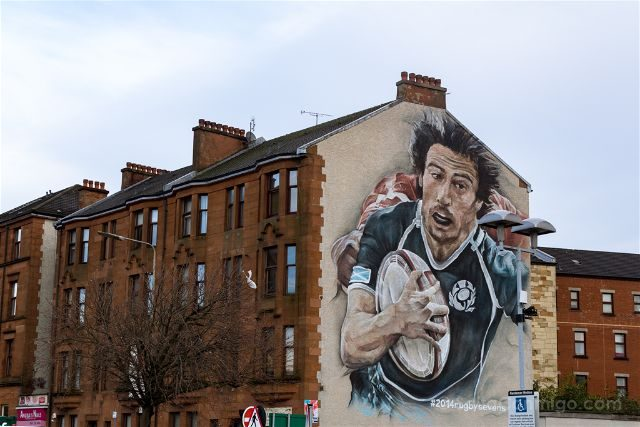Glasgow City Centre Mural Trail Rugby Guido Van Helten