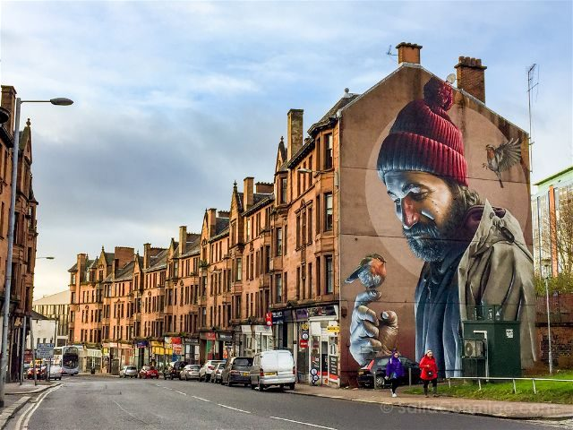 Glasgow City Centre Mural Trail St. Mungo Smug