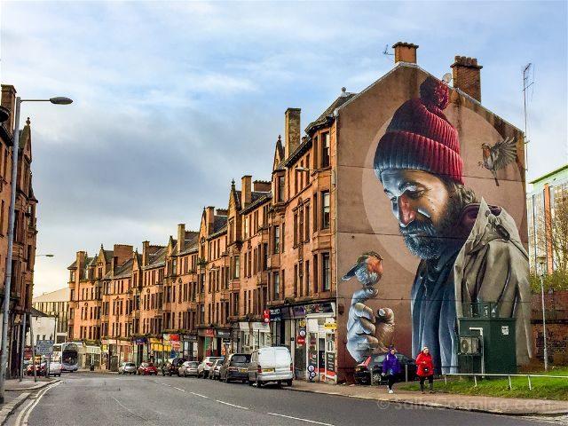 Glasgow City Centre Mural Trail St. Mungo Smug