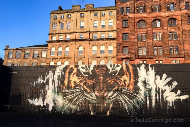 Glasgow City Centre Mural Trail Tiger Klingatron