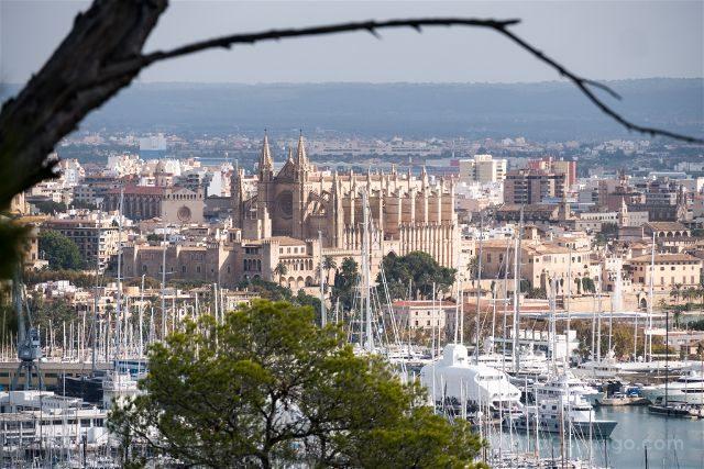 Islas Baleares Mallorca Palma Vista Catedral Castillo Bellver