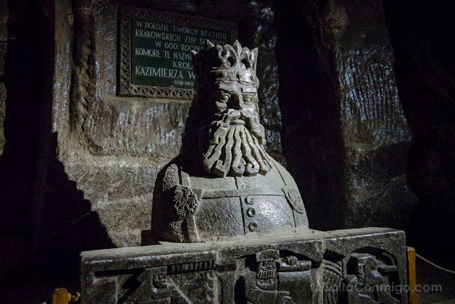 Polonia Mina Sal Wieliczka Estatua Casimiro III