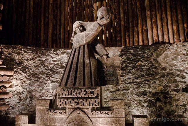 Polonia Mina Sal Wieliczka Estatua Copernico