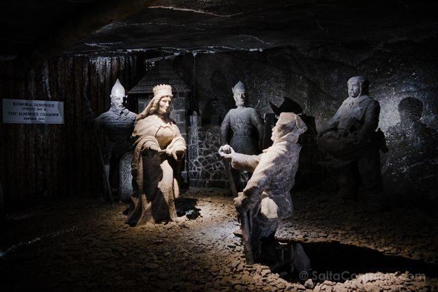 Polonia Mina Sal Wieliczka Estatua Leyenda Santa Kinga