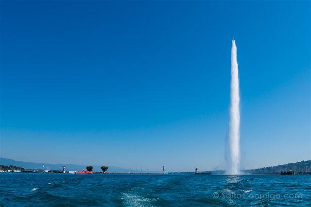 Suiza Ginebra Jet Eau Lago Leman