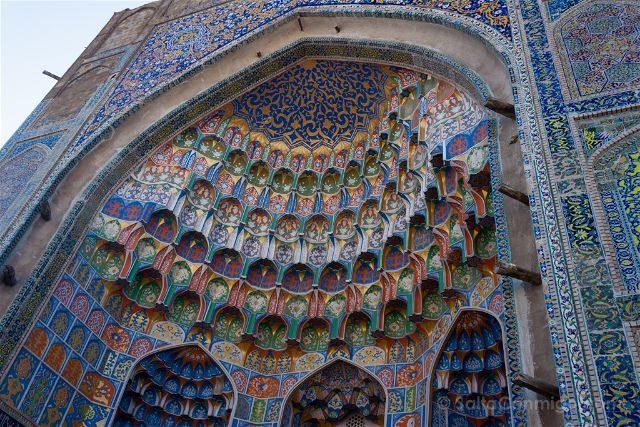 Uzbekistan Bujara Mezquita Azulejos