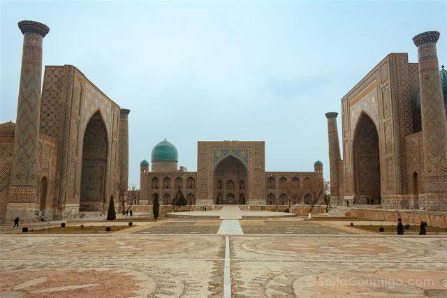 Uzbekistan Samarcanda Plaza Registan