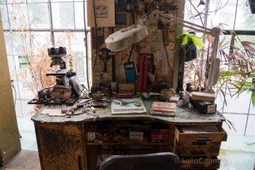 Belgica Flandes Amberes Panamarenko Panamarenkohuis Escritorio