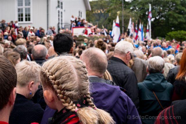 Islas Feroe Torshavn San Olaf Comienzo Fiesta