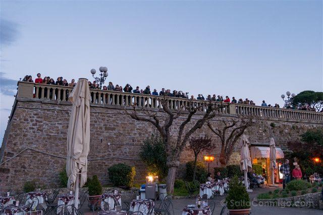 Italia Florencia Piazzale Michelangelo Gente