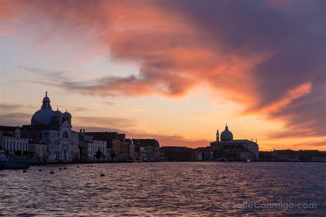 Italia Venecia Atardecer