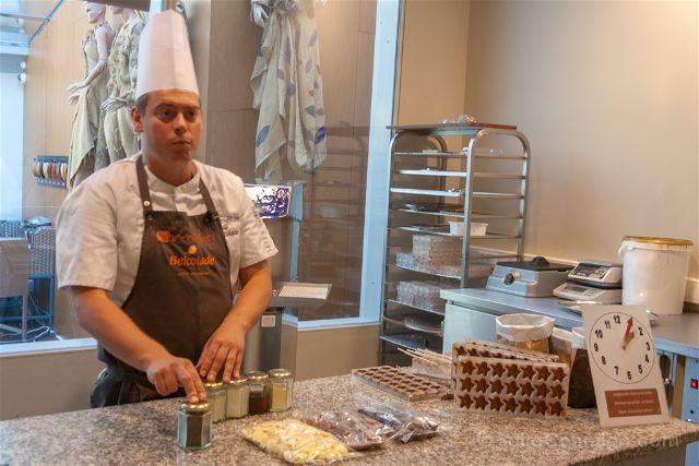 Belgica Brujas Chocolate Museo Choco-Story Demostracion