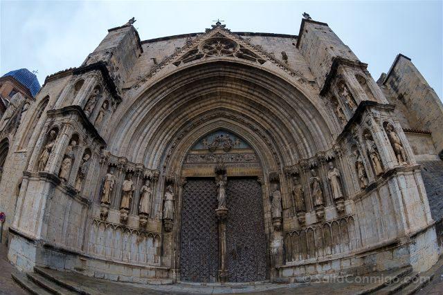 Castellon Els Ports Morella Santa Maria Mayor Puerta Apostoles Ojo Pez