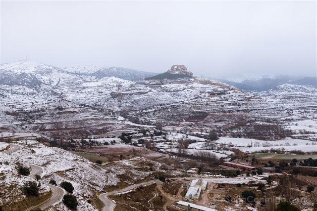 Castellon Els Ports Morella Vista Ciudad Nevada Arriba