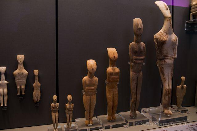 Grecia Atenas Museo Arqueologico Nacional Figuras Cultura Cicladica