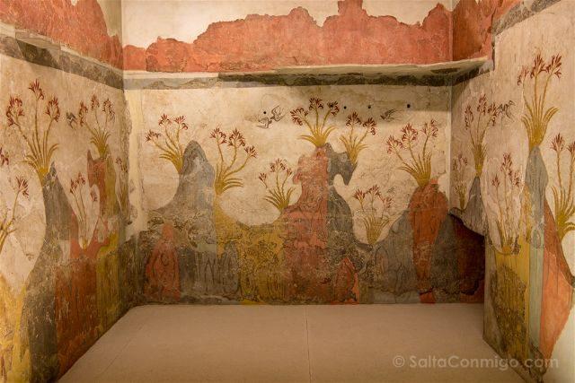 Grecia Atenas Museo Arqueologico Nacional Fresco Santorini
