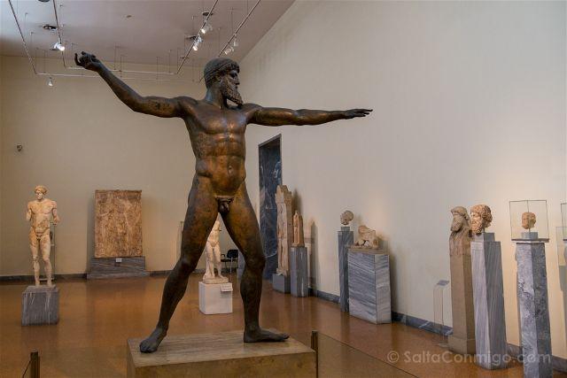Grecia Atenas Museo Arqueologico Nacional Zeus Poseidon Completo Frente