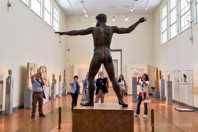 Grecia Atenas Museo Arqueologico Nacional Zeus Poseidon Completo Trasera