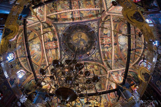 Grecia Meteora Gran Meteoro Katholikon Frescos