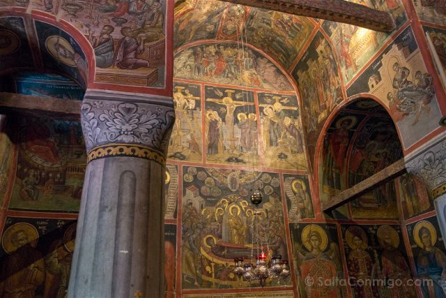 Grecia Meteora Roussanou Frescos