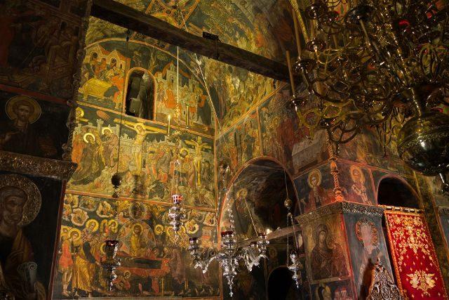 Grecia Meteora Varlaam Iglesia Todos Santos Frescos