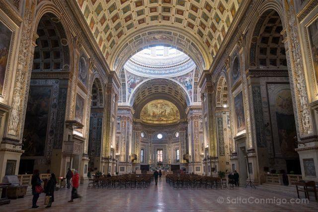 Italia Lombardia Mantua Basilica San Andrea Interior